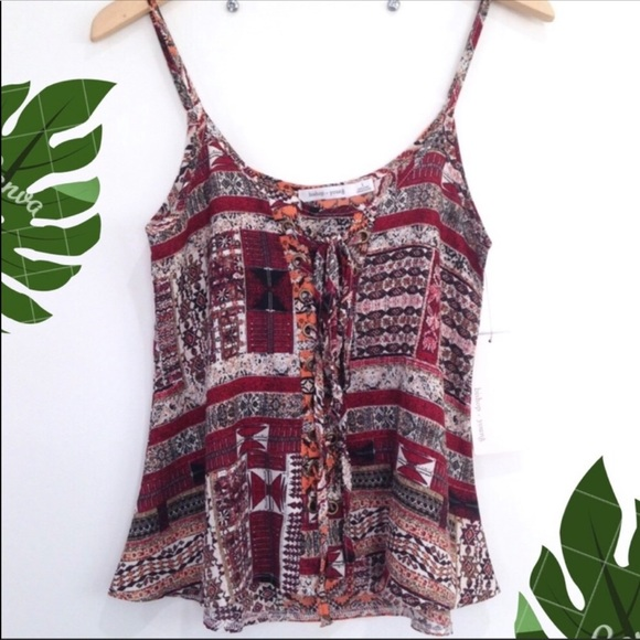 Anthropologie Tops - NWT Anthro Bishop + Young Lace Up Boho Tank Small
